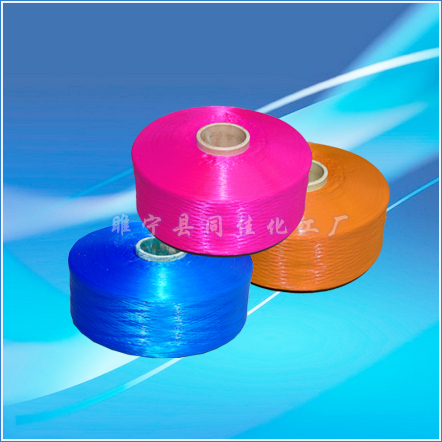 High-strength polypropylene double-twisted silk
